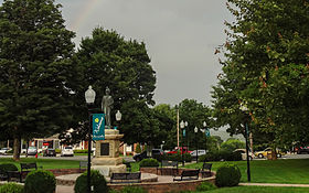 Burnsville, NC Town Square-Statue of Otway Burns.jpg