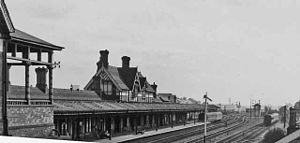 Burton-on-Trent railway station - The station at track level in 1962