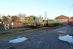 Butterley railway station, Derbyshire, England -trains-19Jan2014 (2).jpg