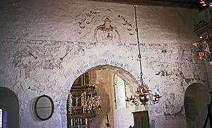 Byneset Church - Image: Byneset kirke Judgment Day (1980)