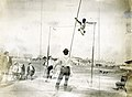 C.E. Dvorak of the Chicago Athletic Association Pole Vaulting at the 1904 Olympics. Dvorak won the competition.jpg
