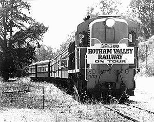 Wonnerup, Western Australia - The last passenger train to Busselton passes through Wonnerup, January 1987.