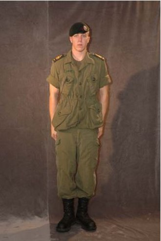 Royal Canadian Army Cadets - An Army Cadet wearing the C5 order of dress (Field Training Uniform - OG-107 Combat Uniform).