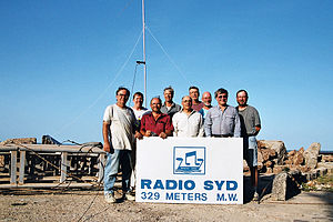 DX-pedition - A group of amateur radio operators during DX-pedition to The Gambia in October 2003.