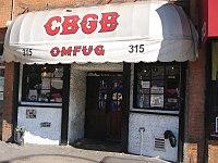 Photo de la devanture du CBGB's.