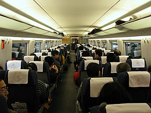 Wuhan–Guangzhou high-speed railway - Image: CRH3C Second Class Seat