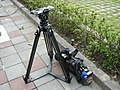 CTI News camera & tripod 20101010.jpg