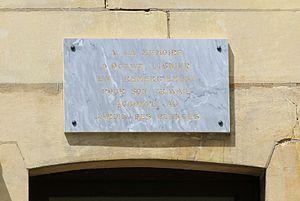 Octave Lignier - Memorial plaque dedicated to Lignier at the botanical institute in Caen