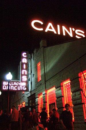 Cain's Ballroom in Tulsa, Oklahoma at night.