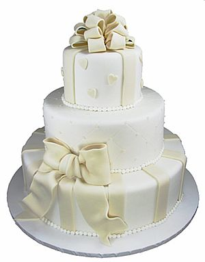 "This ""Cake in White Satin"" with its ..."