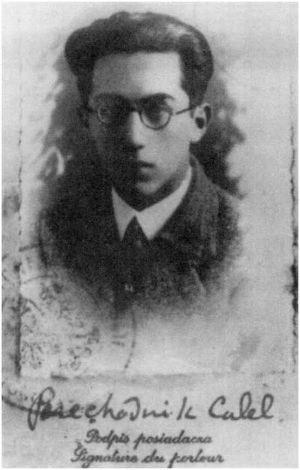 Calel Perechodnik - Calel Perechodnik as a student