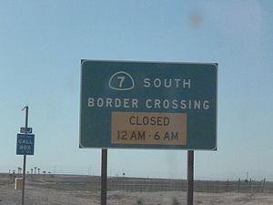 California State Route 7 - SR 7 sign