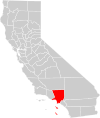 California county map (Los Angeles County highlighted).svg