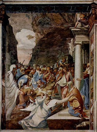 San Sigismondo (Cremona) - The Resurrection of Lazarus, by Camillo Boccaccino.
