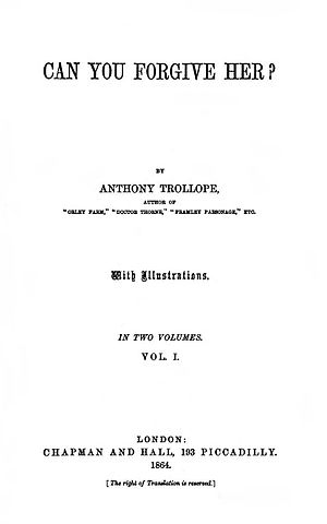 Can You Forgive Her? - First edition title page