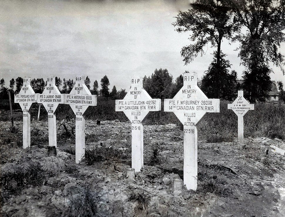 Canadian Corps - Canadian war graves