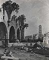 Canaletto - Veduta di Roma con la basilica di Costantino e la chiesa di S. Francesca Romana, Collezione A. Campanini-Bonomi.jpg