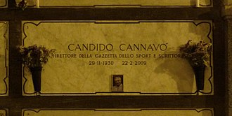 Candido Cannavò - Cannavò's grave at the Monumental Cemetery of Milan, in 2015