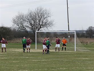 Canterbury City F.C. - Canterbury City (claret shirts) in action against Snodland in 2010