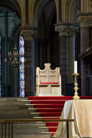 Canterbury Cathedral - The archiepiscopal throne in Canterbury Cathedral