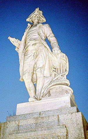 Matthew Barnett (bookmaker) - Statue of Captain Cook in Victoria Square, Christchurch
