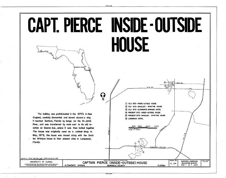 File:Captain Pierce House, Boston Avenue, Altamonte Springs, Seminole County, FL HABS FLA,59-ALTSP,1- (sheet 1 of 7).tif
