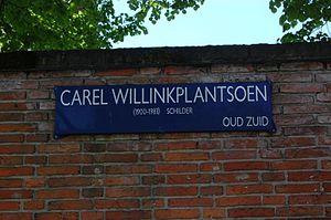 Carel Willink - Carel Willinkplantsoen park name plate, Amsterdam