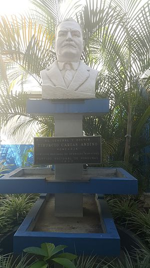 National Party of Honduras - Monument in honor of Tiburcio Carias Andino in the National Party's headquarters