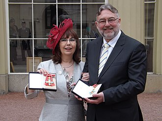 Carole Goble - Carole Goble at Buckingham Palace with Douglas Kell after receiving her CBE.