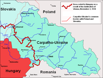 Development of the administrative divisions of Ukraine - Image: Carpatho Ukraine March 1939