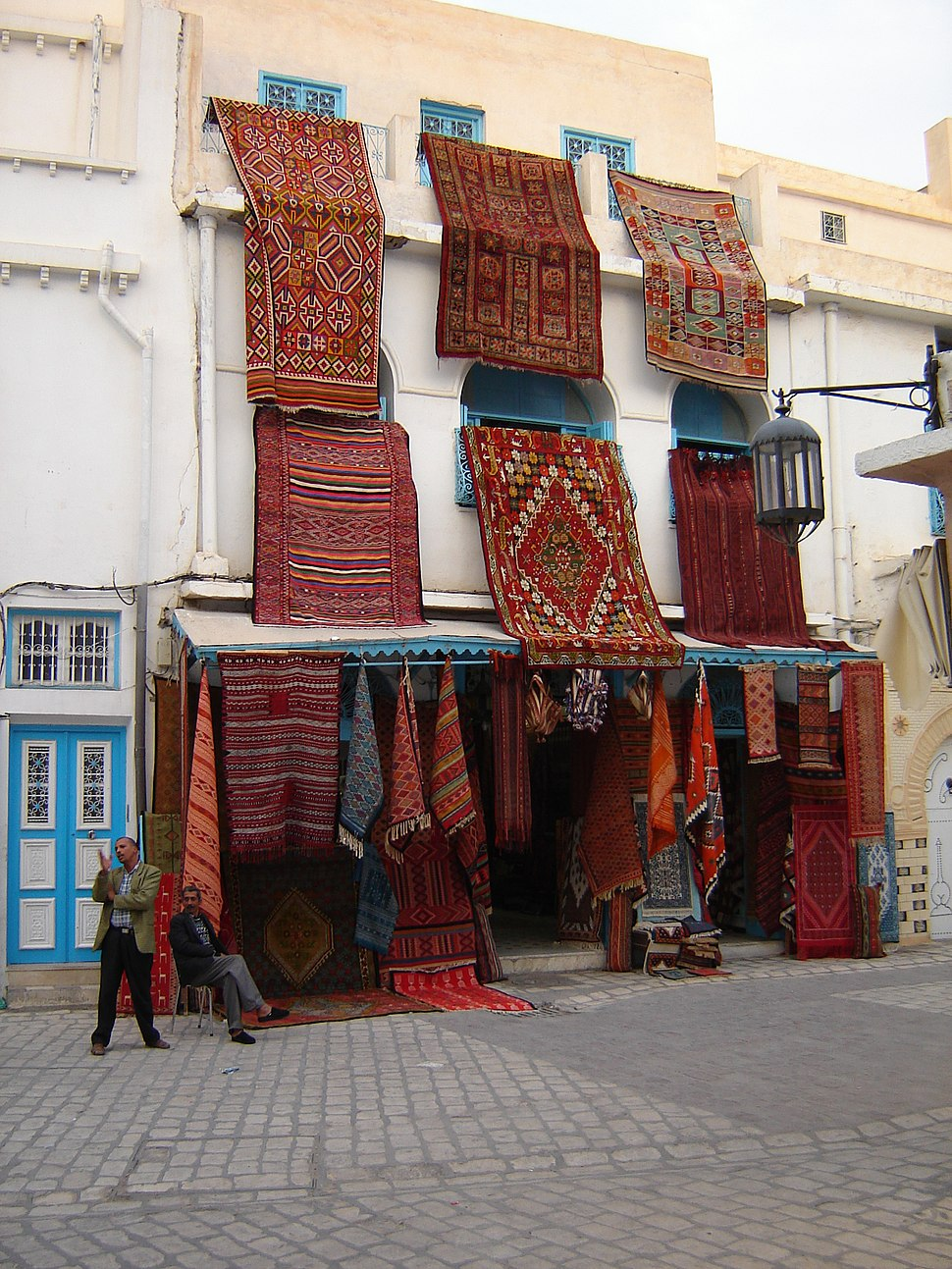 Carpet shop in Kairouan