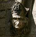 Carved Head of a Bishop, Broughton Church - geograph.org.uk - 1428511.jpg