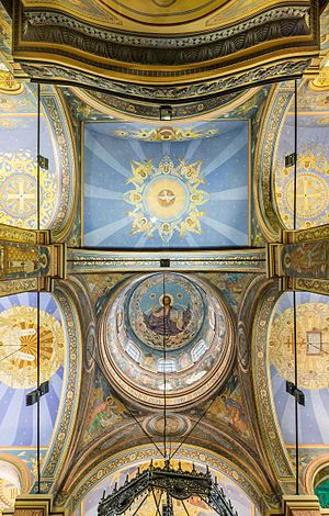Dormition of the Mother of God Cathedral, Varna - Top view.