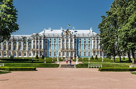 The Catherine Palace by Bartolomeo Rastrelli (1752-) Catherine Palace in Tsarskoe Selo 02.jpg