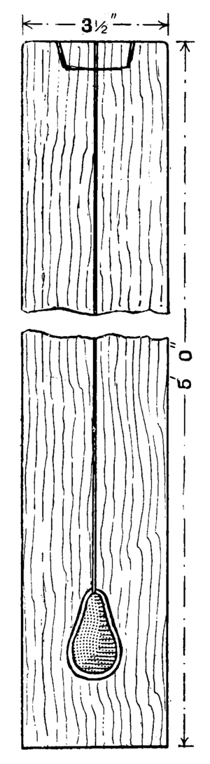 Plumb bob - A plumb rule from the book Cassells' Carpentry and Joinery