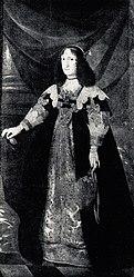 anonymous: Portrait of Cecilia Renata of Austria with a tulip