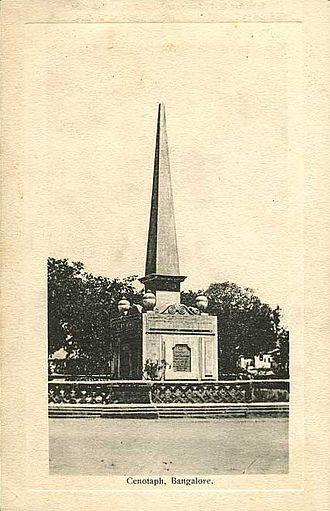 Siege of Bangalore - Cenotaph, Bangalore