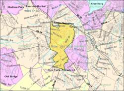 Census Bureau map of Matawan, New Jersey