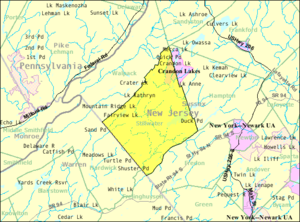 Stillwater Township, New Jersey - Image: Census Bureau map of Stillwater Township, New Jersey