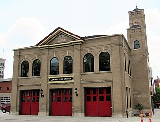 Central Fire Station (Davenport, Iowa) - Image: Central Fire Station Davenport, Iowa 2017 01