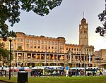 Central railway station, Sydney at sunset.jpg
