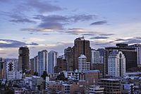 City skyline of La Paz