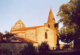 The church in Cerzat