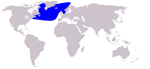Northern bottlenose whale range
