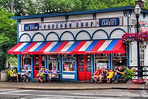 English: Chagrin Falls Popcorn Shop in Chagrin...