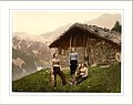 Champéry a woman of Champéry Valais Alps of Switzerland.jpg