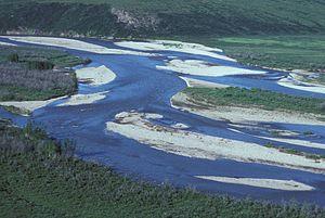 Chandalar River - Image: Chandalar River in summer