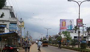 Parvathipuram, Andhra Pradesh - Main road in Parvathipuram