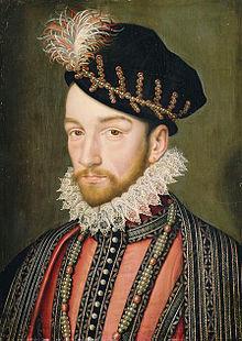 Charles IX de France, d'après François Clouet, huile sur bois, Versailles, Musée national du château.