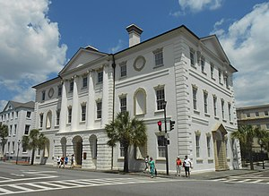 Charleston Library Society - The Library Society's first permanent address, which it occupied from 1792 to 1835, was within what is now the Charleston County Courthouse at 82 Broad St.